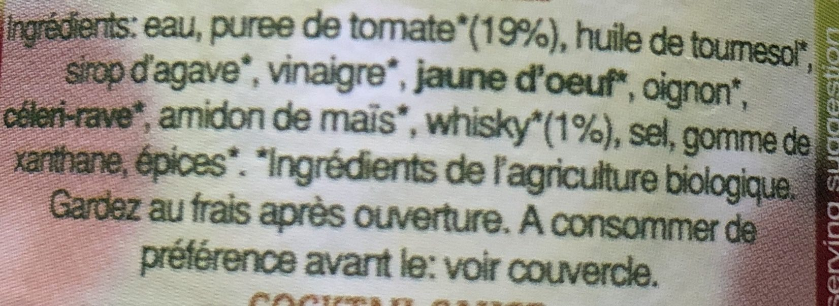 Cocktail Sauce - Ingredients - fr