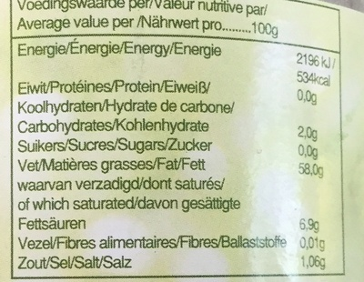 Salademayonaise zonder ei - Nutrition facts