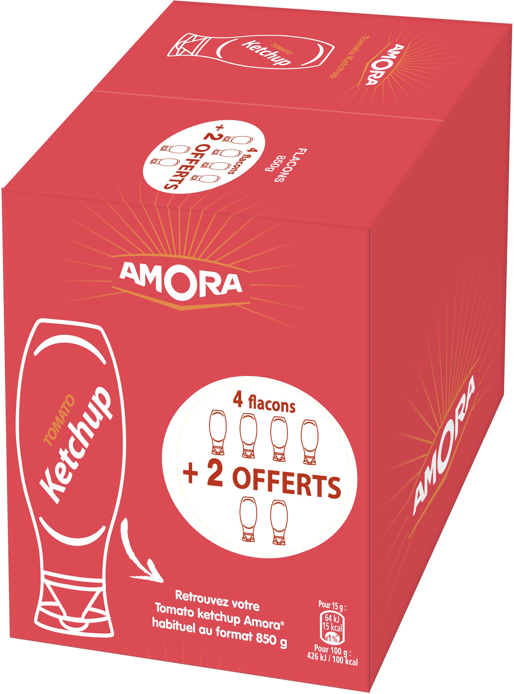 Amora Tomato Ketchup Nature Flacon Souple 850g Lot de 4+2 Offerts - Product - fr