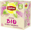 Lipton Bio Thé Noir Ceylan et Bergamote 20 Sachets - Product