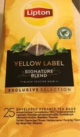Yellow label - Product