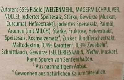Schwäbische Flädle Suppe - Ingredients