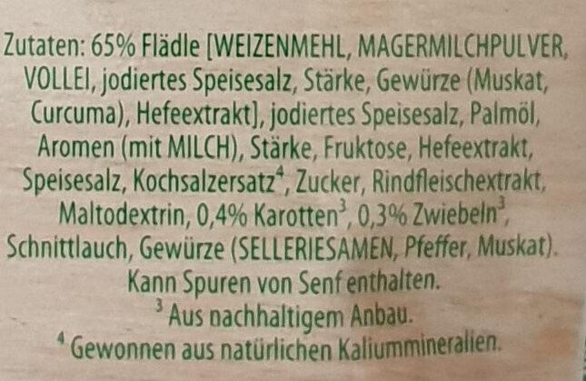 Schwäbische Flädle Suppe - Ingrediënten