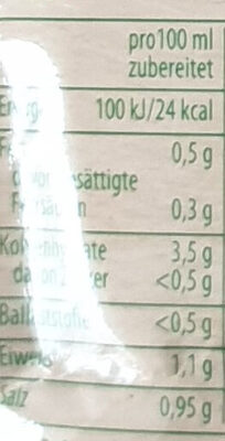 Schwäbische Flädle Suppe - Nutrition facts