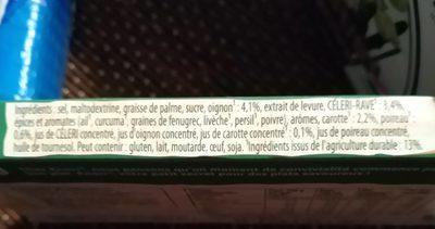 Bouillon légumes - Ingrédients