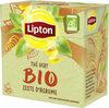 Lipton Thé Vert Bio Zeste d'Agrume 20 Sachets - Product