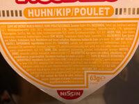 CUP NOODLES Huhn - Nissin - 63g / 350ml - Ingredienti - de
