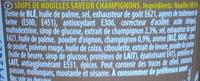 Cup Noodles Champignons - Ingrédients - fr