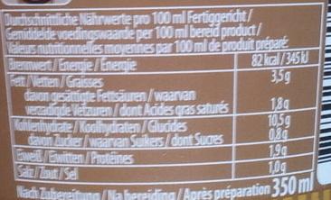 Cup Noodles Champignons - Informations nutritionnelles - fr