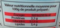"""Nouilles japonaises saveur crevettes """"Hamayaki"""" - Informations nutritionnelles - fr"""