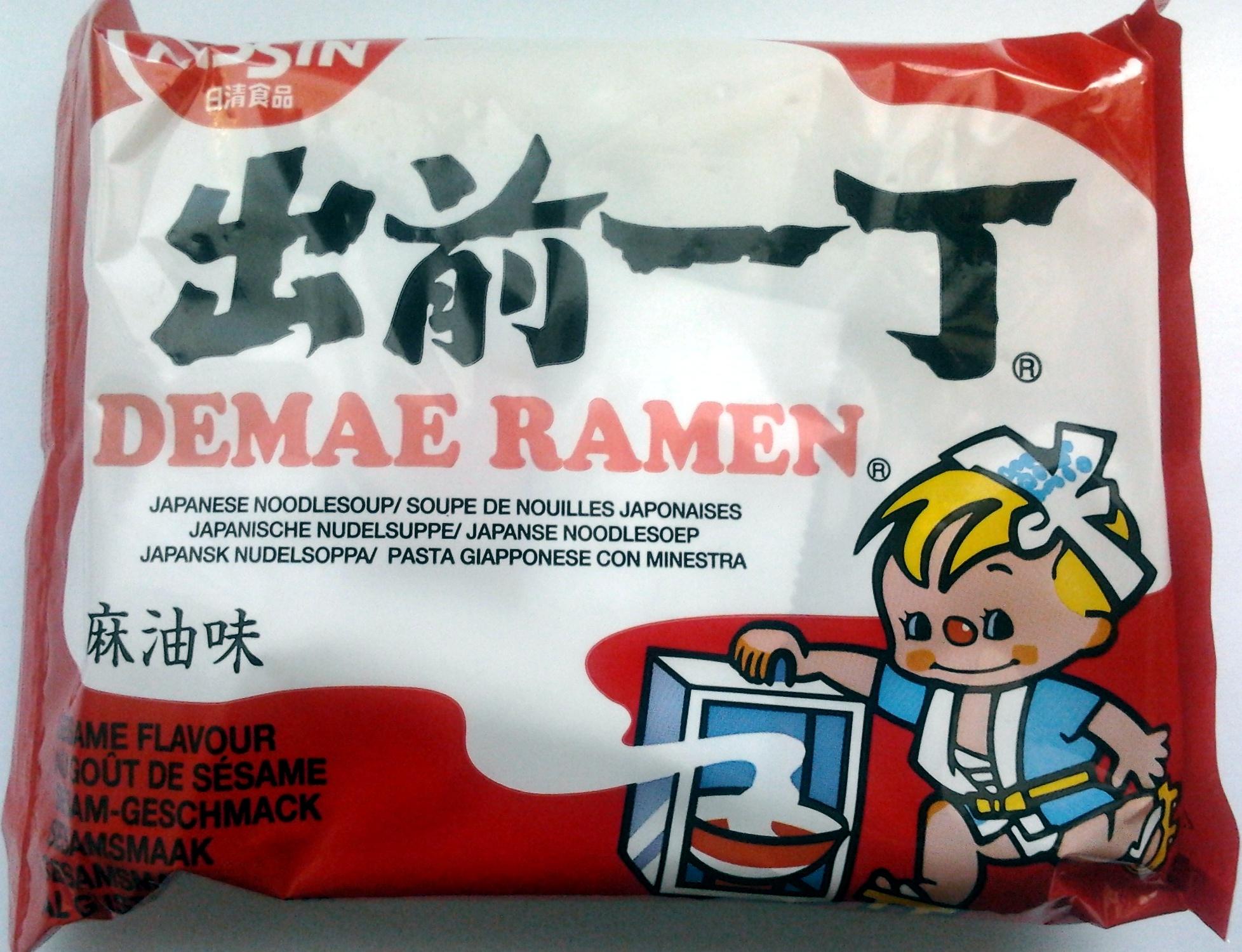 Demae Ramen Sesame Flavour Japanese Noodlesoup - Produit - fr