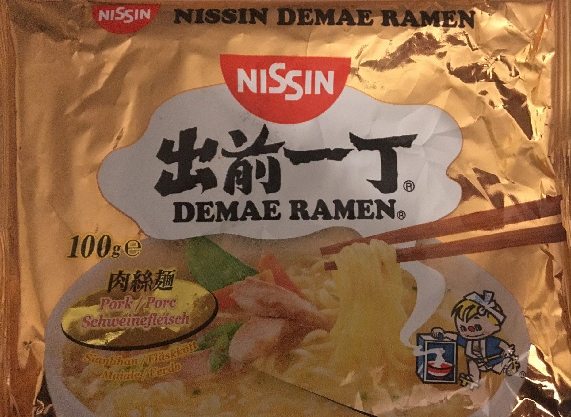Soupe Demae Porc NISSIN 100G - Produit - fr