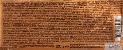 Soupe Demae Porc NISSIN 100G - Ingrédients - fr