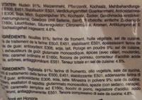 instant noodle soup - Ingrédients - fr