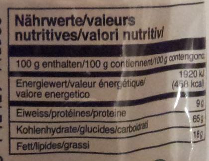 instant noodle soup - Informations nutritionnelles - fr