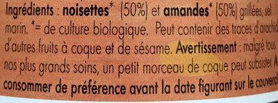 Horizon Gemengde Notenpasta Eko - Ingredients - fr