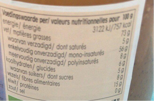 Horizon Hazelnootpasta - Voedingswaarden - nl