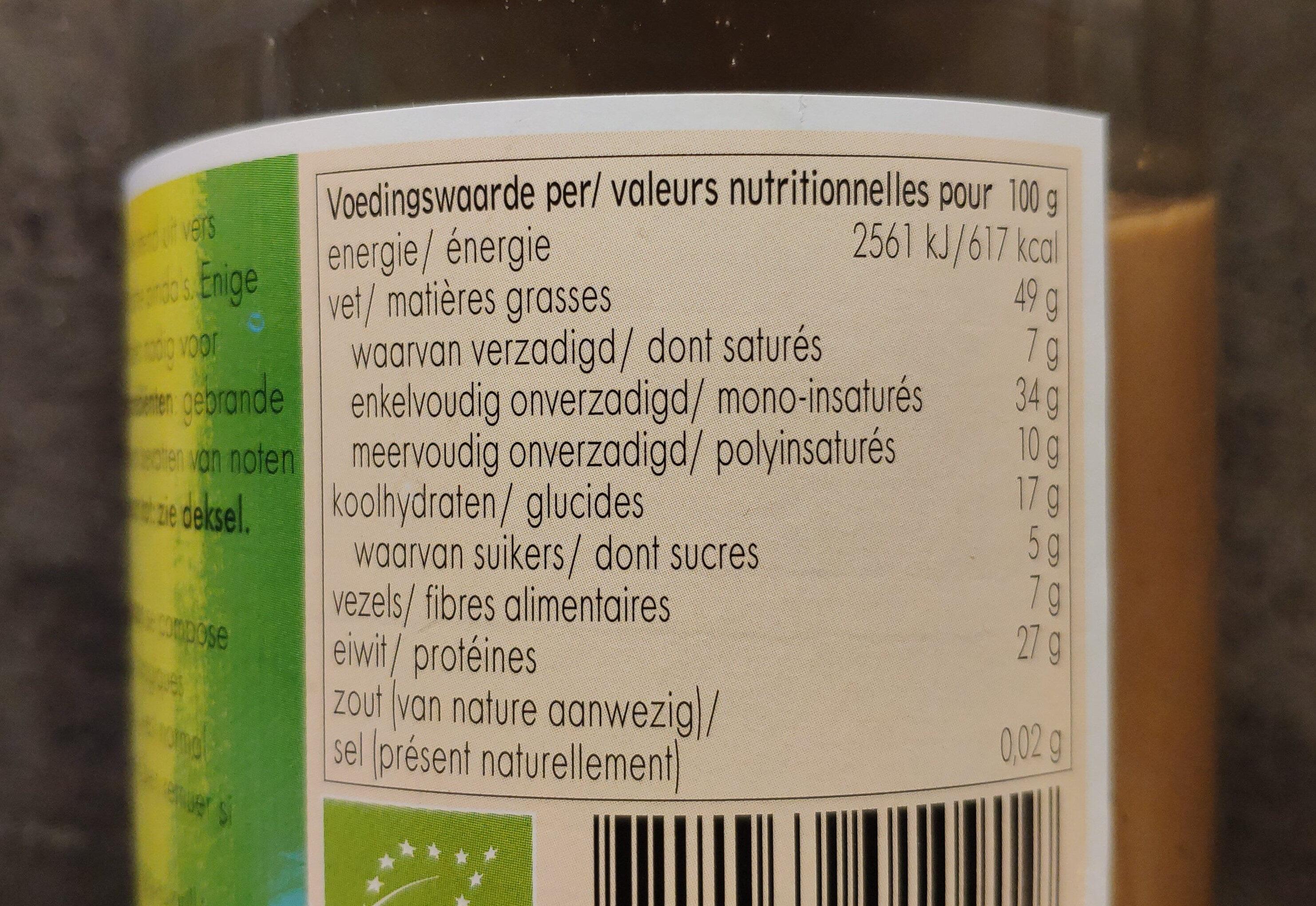 Crème de cacahuètes - Nutrition facts - fr