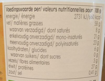 Tahin - Nutrition facts - nl