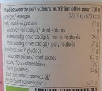 Horizon Witte Tahin ZZ - Nutrition facts - nl