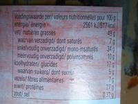 Jori pindakaas - Informations nutritionnelles