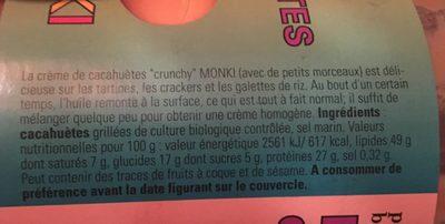Monki Pindakaas Crunchy - Ingredients
