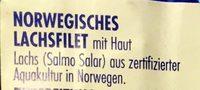Norwegisches Lachsfilet mit Haut - Inhaltsstoffe