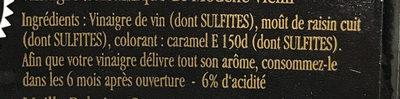 Maille Vinaigre Balsamique de Modène Vieilli - Ingredients - fr