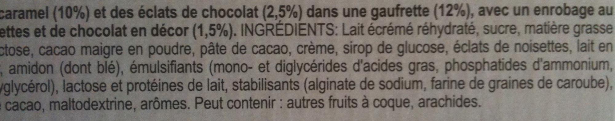 Cornetto Enigma - Chocolat & Coeur au caramel - Ingrédients