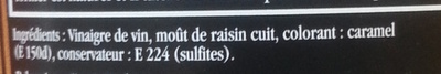 Maille Vinaigre Balsamique de Modène Offre Saisonnière 50cl - Ingrédients - fr