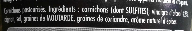 Maille Cornichons Extra-Fins Offre Saisonnère Bocal - Ingrédients - fr