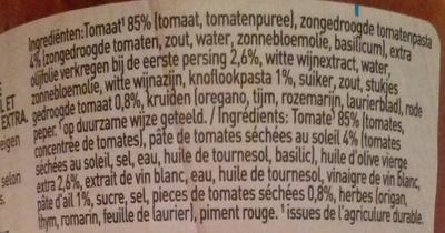 Bertolli Siciliana - Ingredients