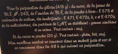 Alsa Moelleux Marbre - Ingrediënten - fr