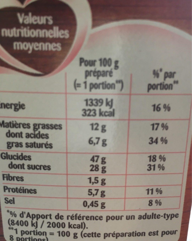 Alsa Moelleux Marbre - Informations nutritionnelles