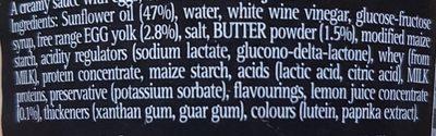 Hollandaise Sauce - Ingrédients - en