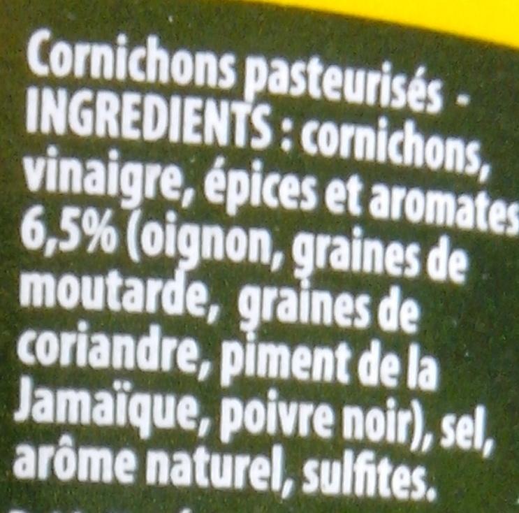 Amora Cornichons Extra-Fins 380g Offre Saisonnière - Ingrédients - fr