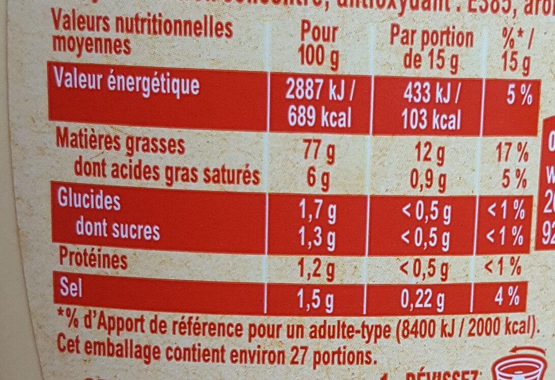 Amora Mayonnaise Recette Fouettée Flacon Souple 398g - Informations nutritionnelles - fr