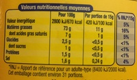Amora Mayonnaise Nature Flacon Souple - Nutrition facts - fr