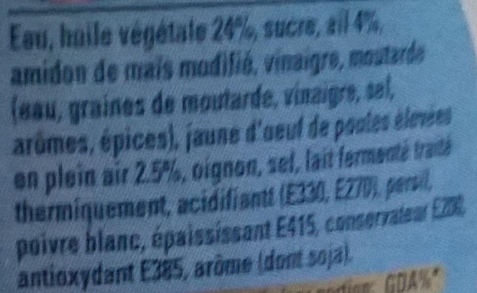 Sauce à l'ail Calvé - Ingrediënten
