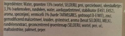 Julienne légumes avec boulettes - Ingrediënten - nl
