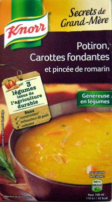 Secrets de Grand-Mère Potiron Carottes fondantes et pincée de romarin Knorr - Produit