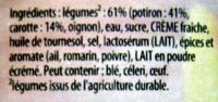 Secrets de Grand-Mère Potiron Carottes fondantes et pincée de romarin Knorr - Ingrédients