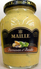 Moutarde au vin blanc au parmesan et au basicic Maille - Product
