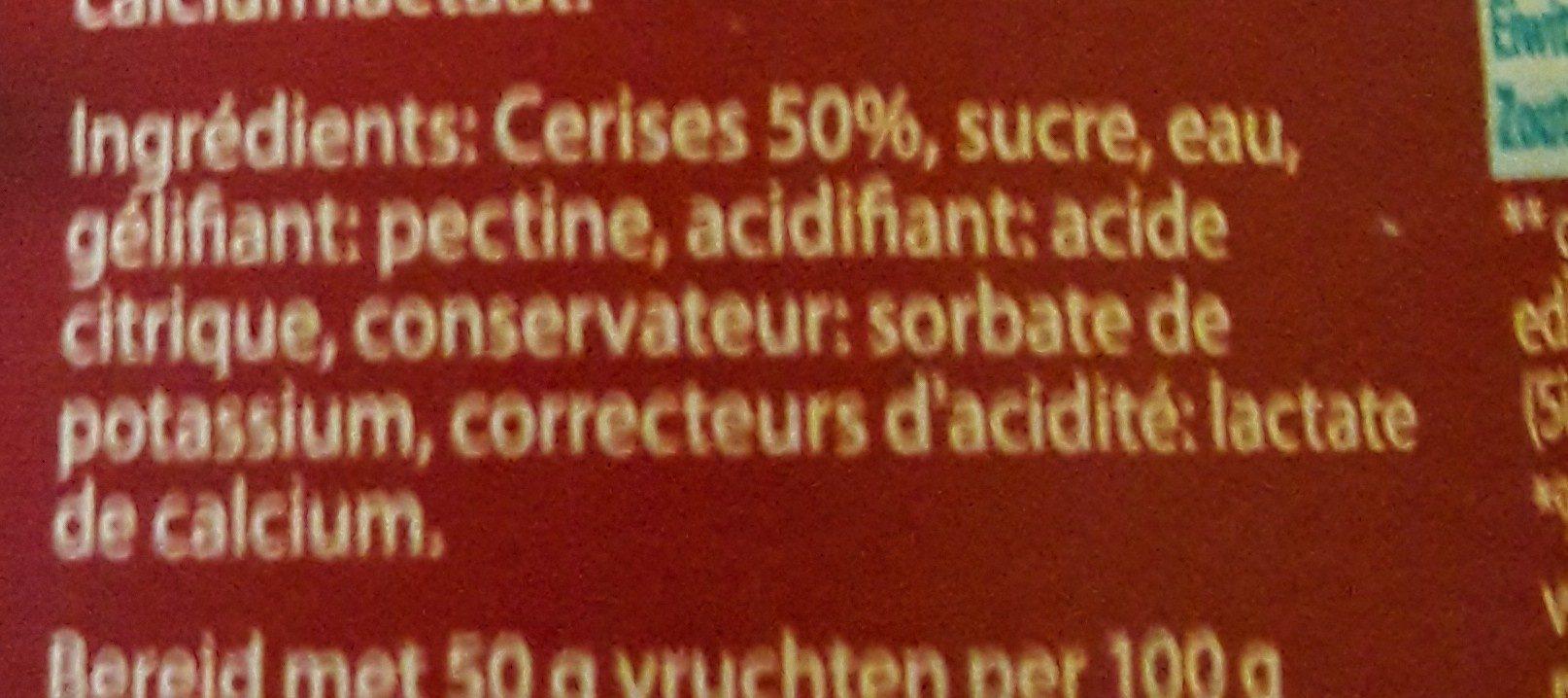 Confiture Cerises - Ingrédients - fr