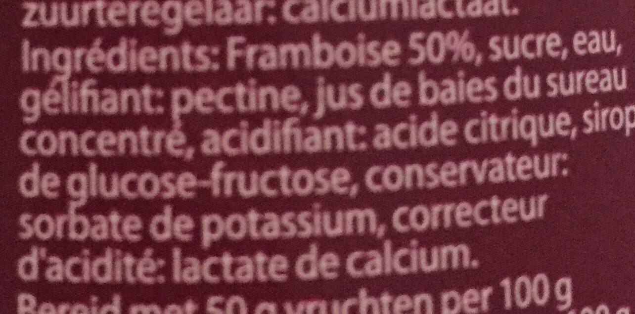 Confiture Framboises - Ingrédients - fr
