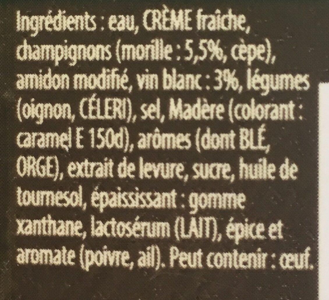 Sauce au Morilles - Ingrédients