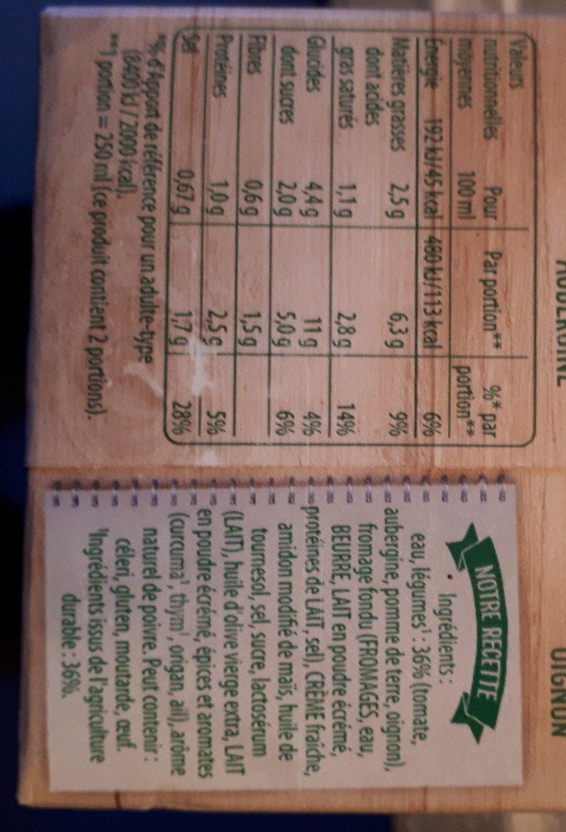 Douceur de légumes du soleil avec une pointe d'origan - Ingredients