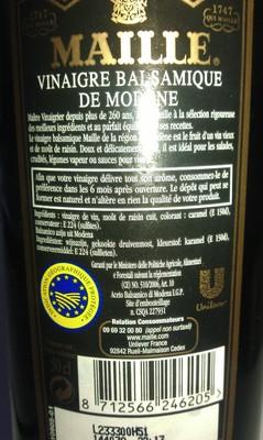 Maille - Vinaigre balsamique de Modène - 1