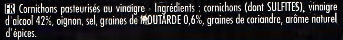 Maille Cornichons Extra-Fins L'Original Bocal - Ingredienti - fr