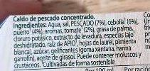 Caldo de pescado en cacitos pack 4 tarrinas 112 g - Ingredientes - es